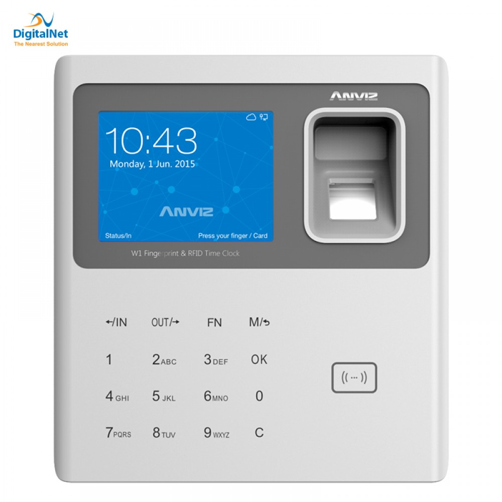 ANVIZ  FINGERPRINT RFID TIME ATTENDANCE W1 PRO WHITE