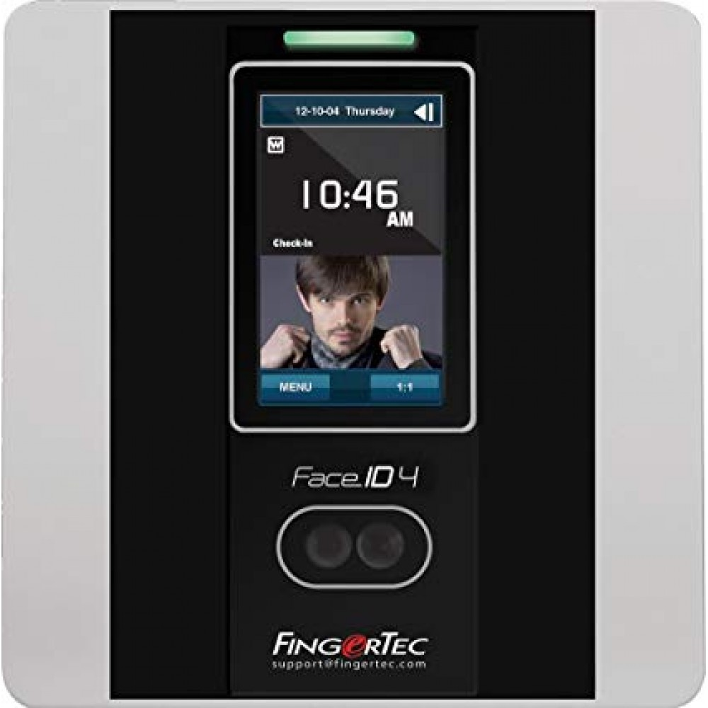 FINGERTEC FACE RECOGNITION SYSTEM FOR TIME ATTENDANCE FACE ID4 SILVER