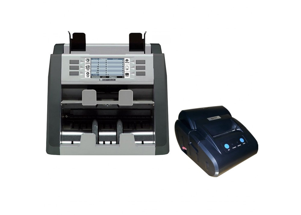 BDCO MONEY COUNTER TWO POCKET DISCRIMINATOR P30 WITH  THERMAL PRINTER