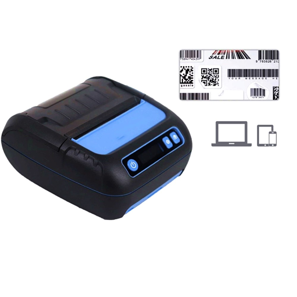 AOCOM PORTABLE BLUETOOTH THERMAL PRINTER M83 BLACK