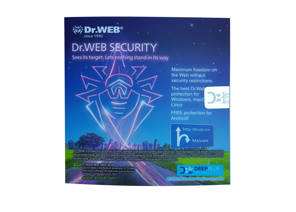 DR.WEB SECURITY FOR PC + MOB 1 USER BOX