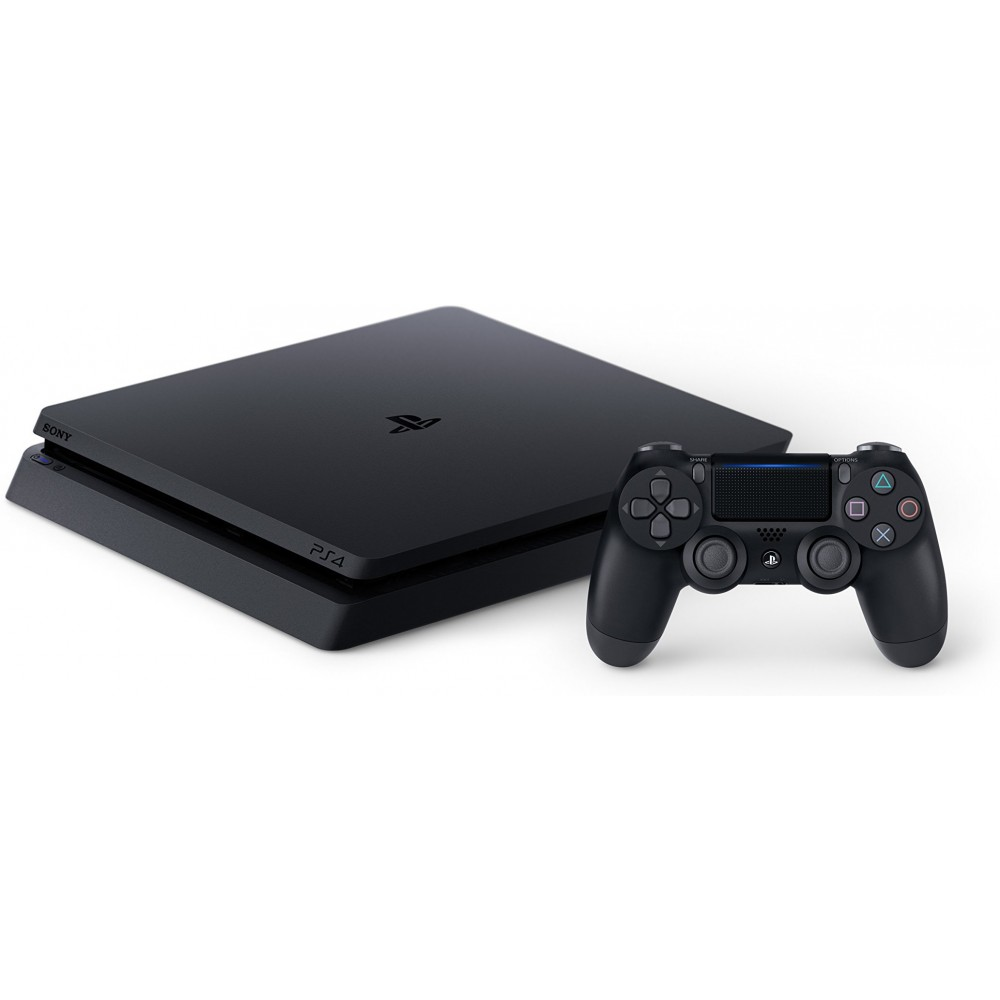 SONY PLAYSTATION PS4 SLIM 1TB + ORIGINAL WIRELESS JOYSTICK BLACK