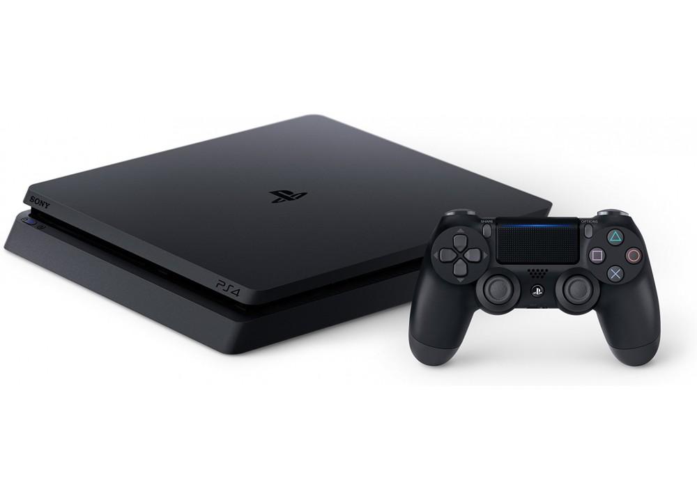 SONY PLAYSTATION PS4 SLIM 1TB + ORIGINAL WIRELESS JOYSTICK BLACK