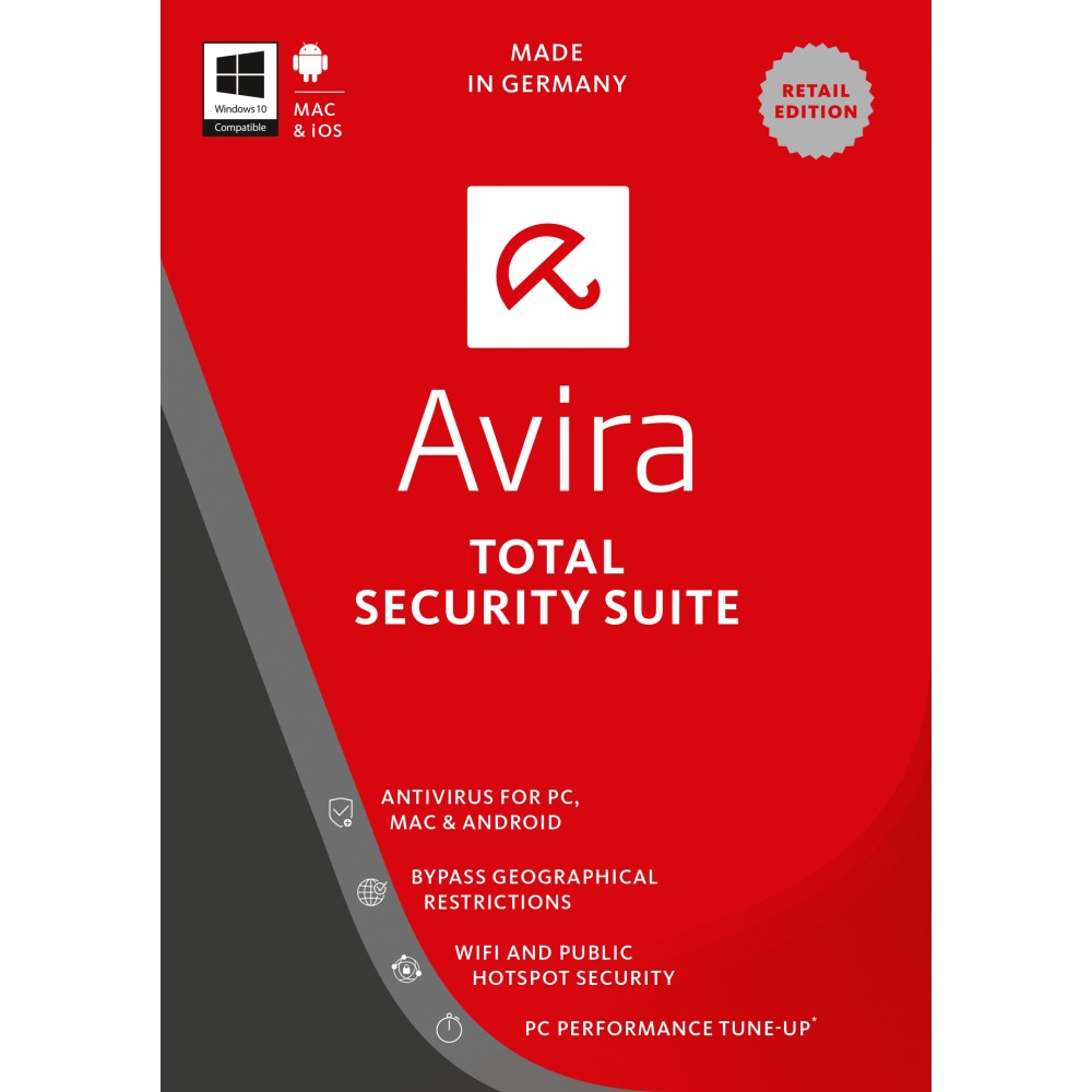 AVIRA INTERNET SECURITY SUITE 1 USER BOX