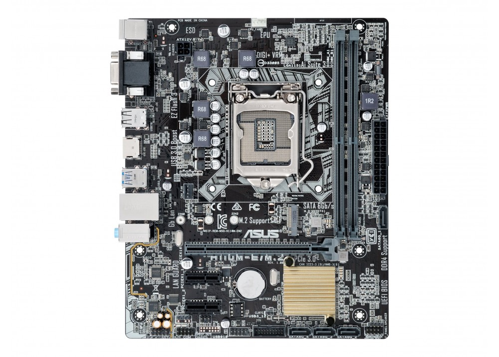 ASUS MOTHERBOARD ATX H110 5X  LED-ILLUMINATED DDR4