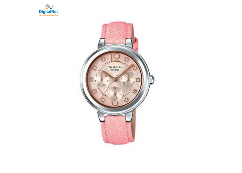 CASIO HAND WATCH LEATHER BAND SHE-3048L-4AU SHEEN PINK