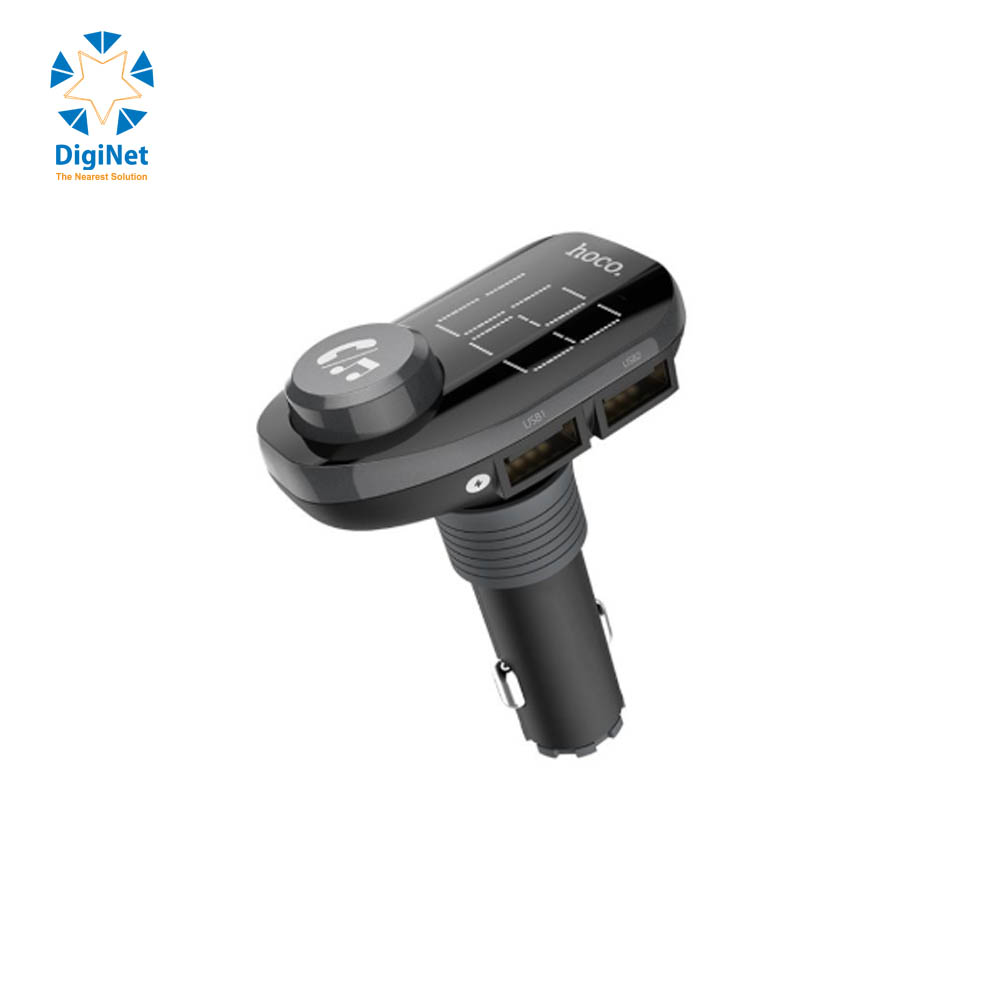 HOCO CAR CHARGER E45 WITH WIRELESS BLACK