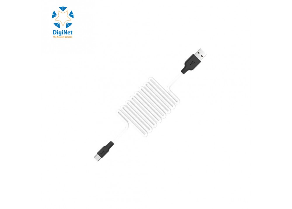 HOCO CHARGING CABLE DATA X21+ TYPE-C WHITE