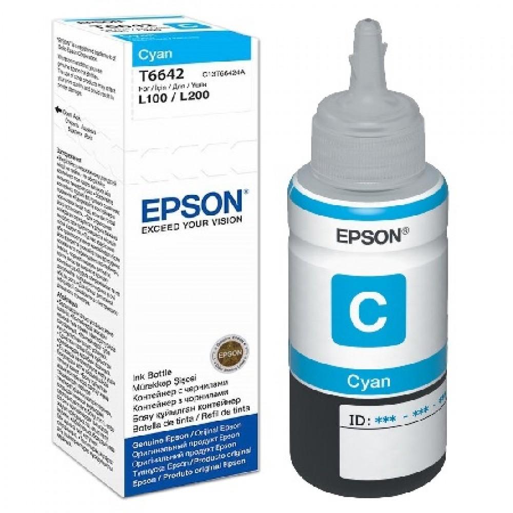 EPSON T6642 CYAN ORIGINAL INK BOTTLE