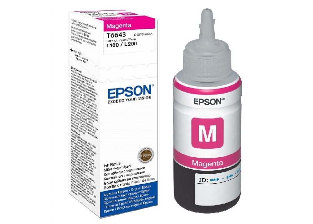 EPSON T6643 MAGENTA ORIGINAL INK BOTTLE