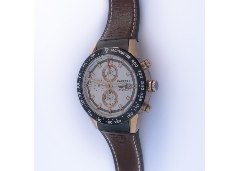 TAG HEUER WATCH MENS SPORT CHEK LEATHER