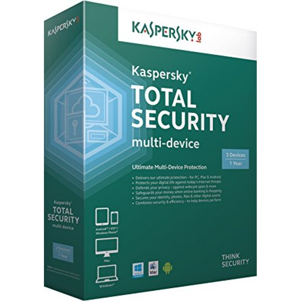 KASPERSKY TOTAL SECURITY 3 Devices BOX