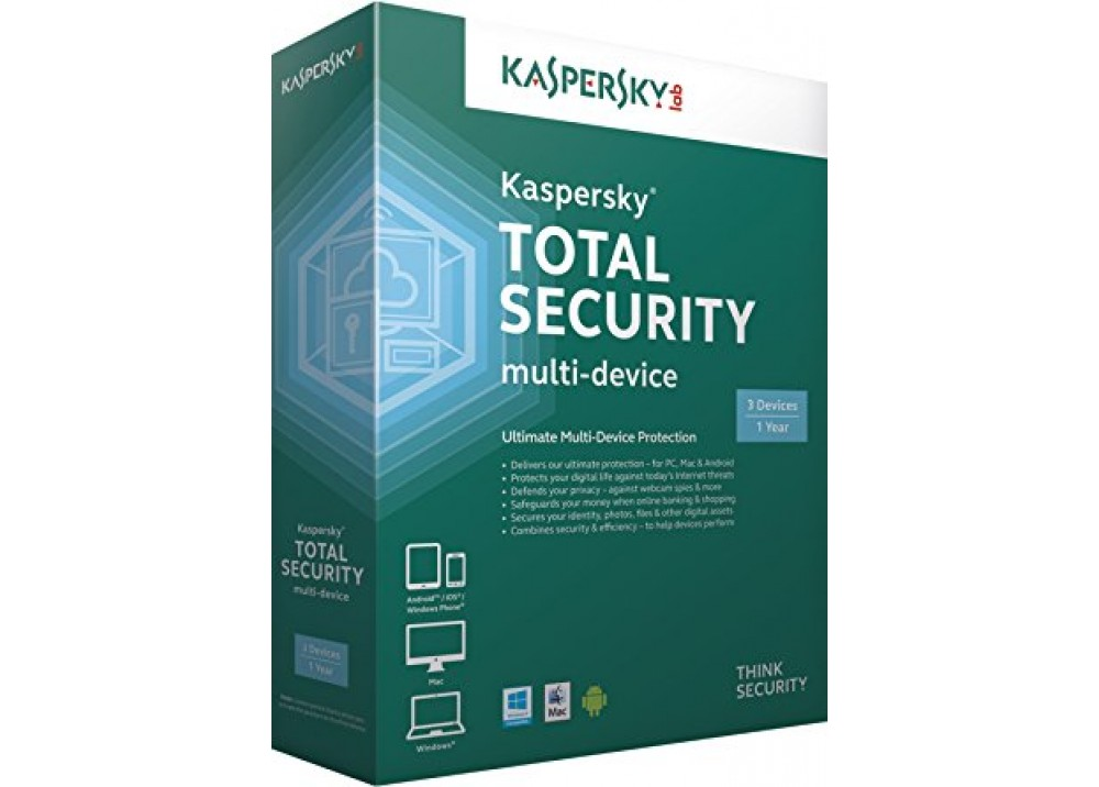 KASPERSKY TOTAL SECURITY 3 USERS BOX