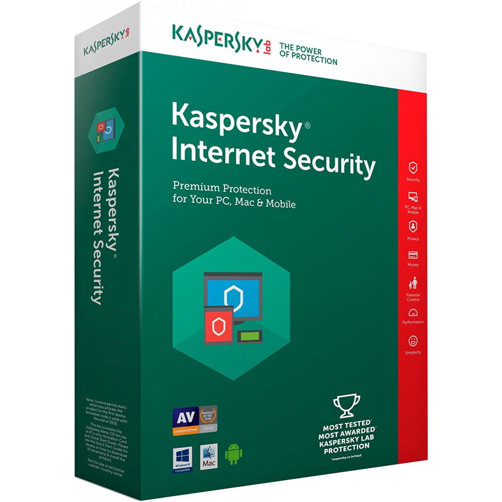 KASPERSKY  INTERNET SECURITY 1 USER BOX