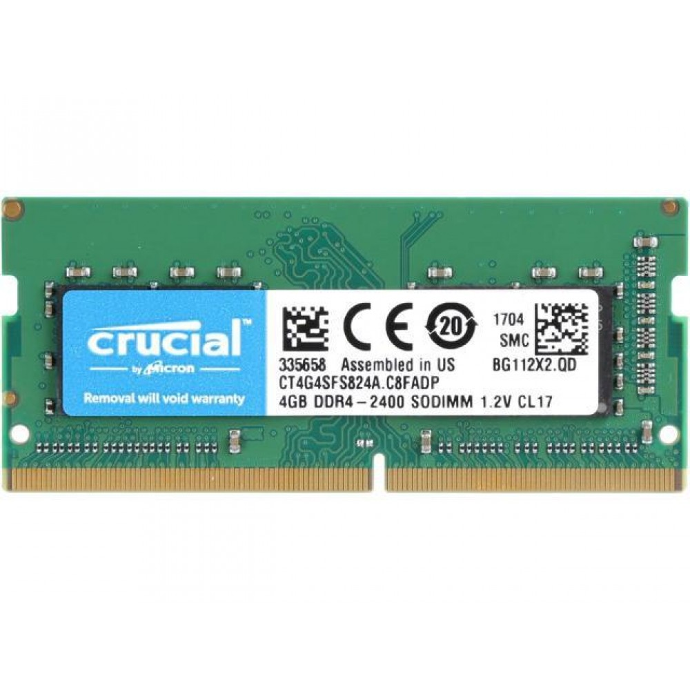 CRUCIAL RAM FOR LAPTOP 4 GB DDR4 SO-DIMM 2400 BOX