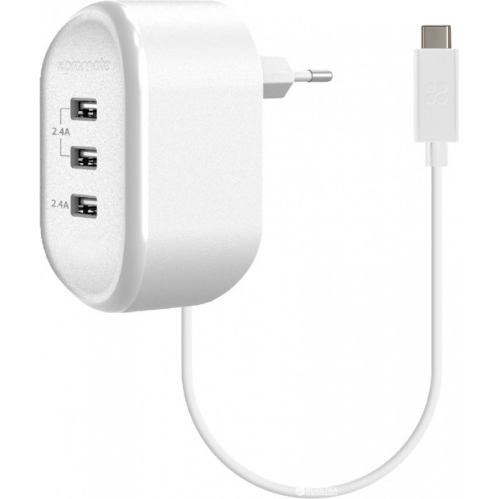 PROMATE CHARGER TORNADO 3C WHITE