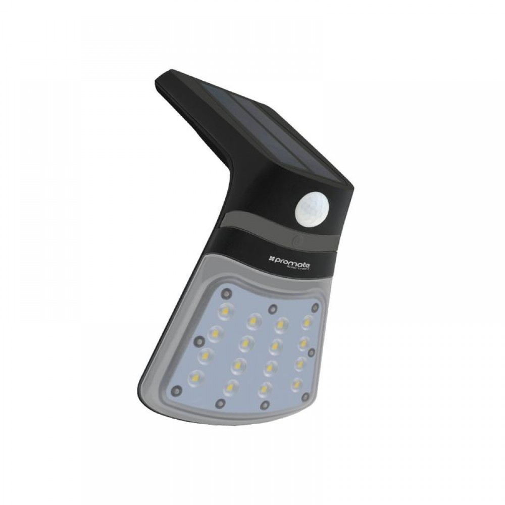 PROMATE SUPER BRIGHT SOLAR LIGHT WITH DUAL LIGHTING MODES SOLARTRAIL-1 BLACK