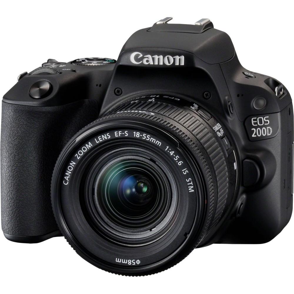 CANON CAMERA EOS 200D 18-55mm STM LENS KIT BLACK