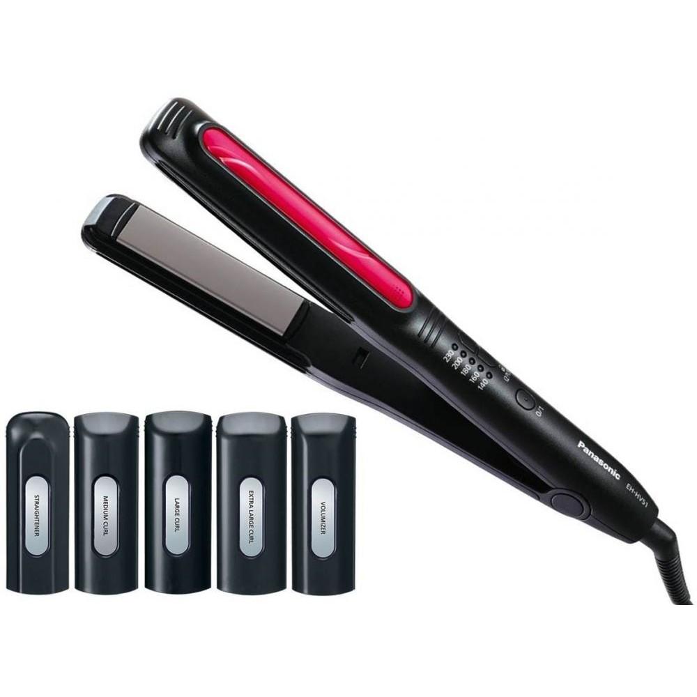 PANASONIC HAIR STYLER CURL & STRAIGHT EH-HV51-K615 BLACK