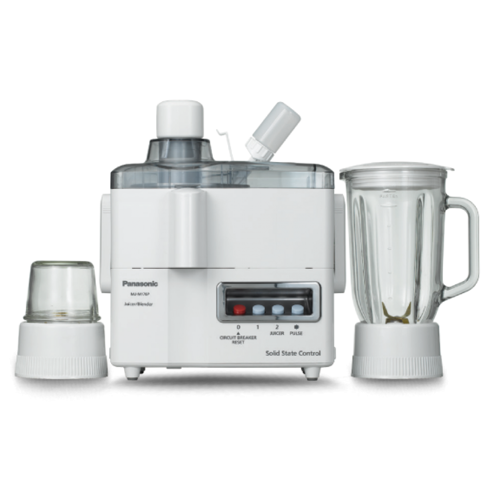 PANASONIC JUICER BLENDER MJ-M176PWTC 3 IN 1 230W WHITE