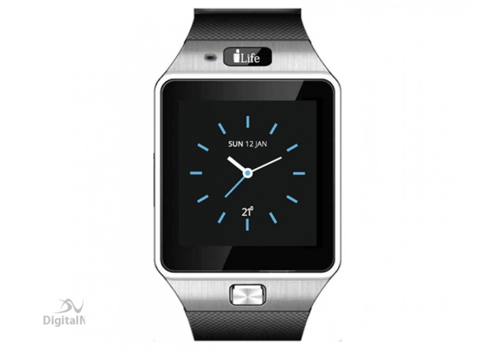 I-LIFE ZEDWATCH C,LOW END,SQUARE 1.54'' BLACK SILVER