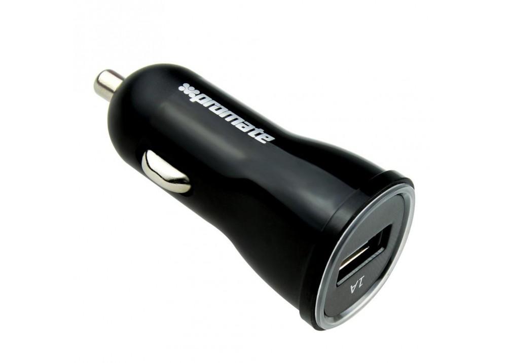 PROMATE PROCHARGE-M1 PREMIUM MICRO-USB UNIVERSAL CAR CHARGER BLACK