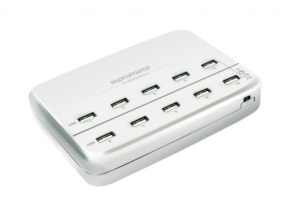 PROMATE UNISTATION 12000MA HEAVY DUTY CHARGING POWER STATION WITH 10 USB PORTS