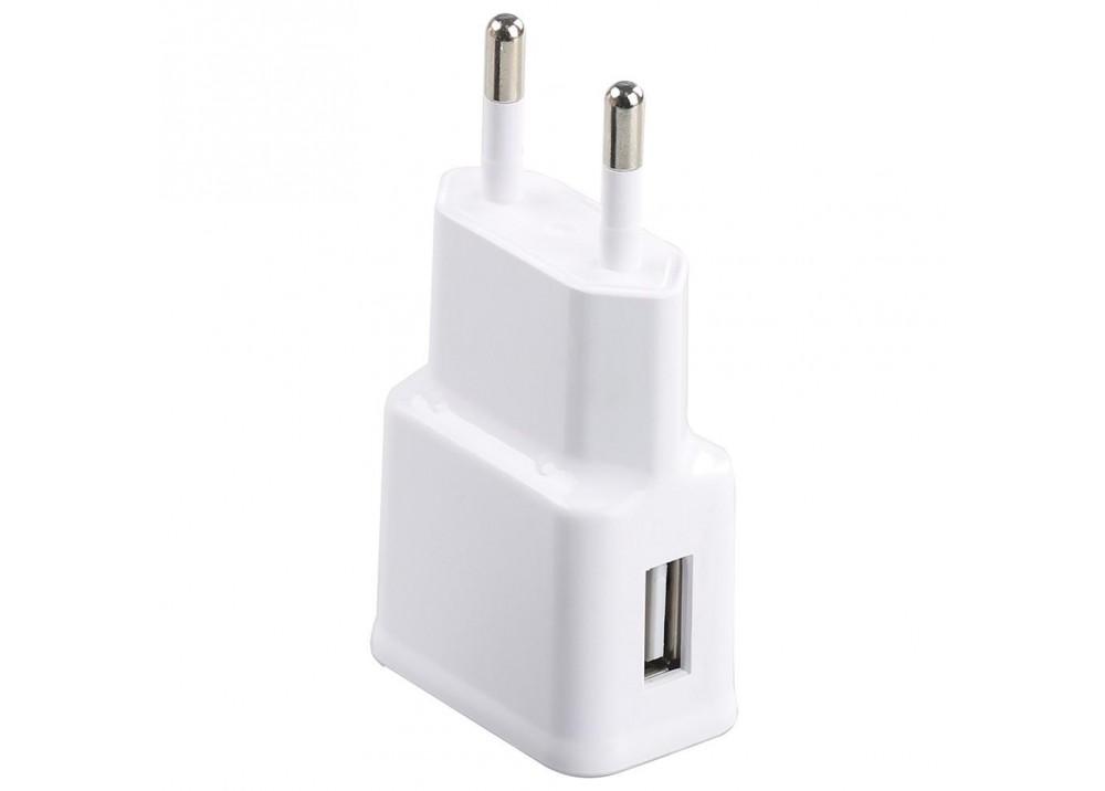 PROMATE PFIZA-EU 1000 mA HOME CHARGER WITH USB PORT WHITE