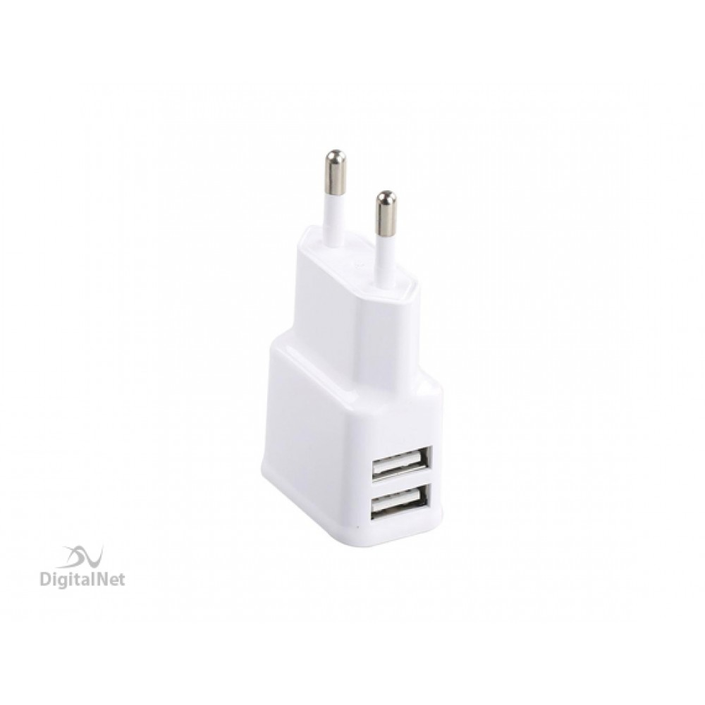 PROMATE HYPE-EU 2000 MA HOME CHARGER WITH DUAL USB PORTS WHITE
