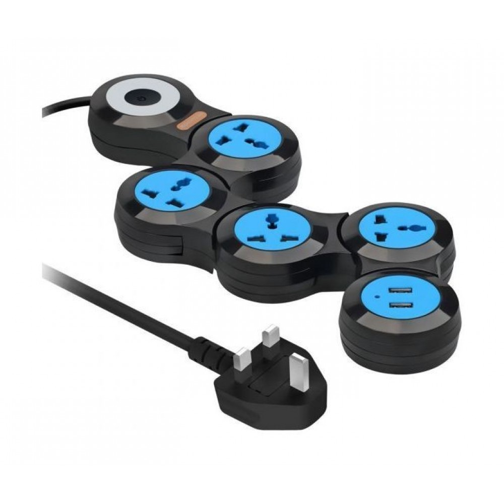 PROMATE  POWER STRIP‐2..BLK‐EU POWER HUB