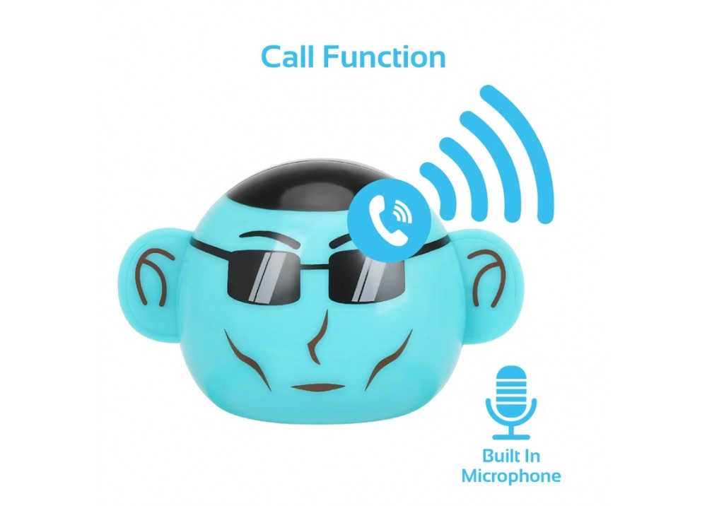 PROMATE MINI WIRELESS SPEAKER MONKEY APE BLUE