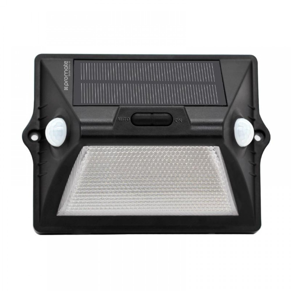 PROMATE OUTDOOR SOLAR POWERED LED LIGHTS WITH MOTION SENSOR SOLARWAY-2 2000MAH BLACK