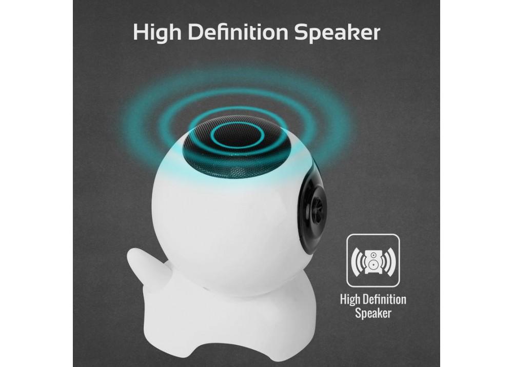 PROMATE MULTIFUNCTION WIRELESS SPEAKER & LED LIGHT MARVIN 400MAH WHITE