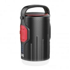 بروميت CAMPMATE-2 سبيكر لاسلكي & مصباح LED & مخزن طاقة 5 واط أسود & أحمر
