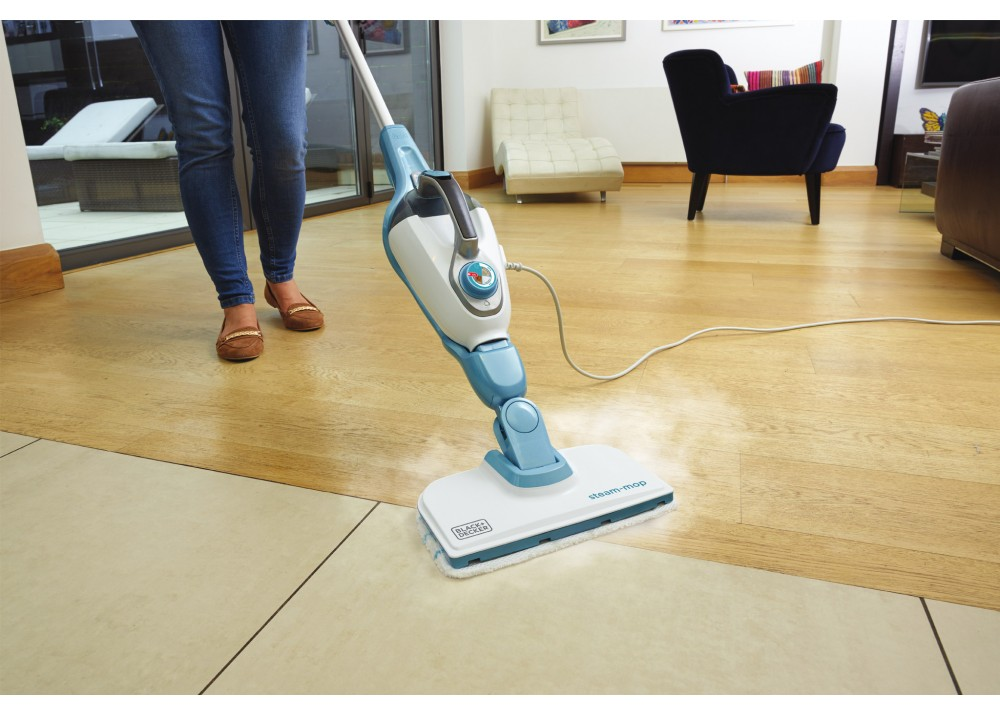 BLACK & DECKER STEAM-MOP FSM1616-B5 1600W WHITE