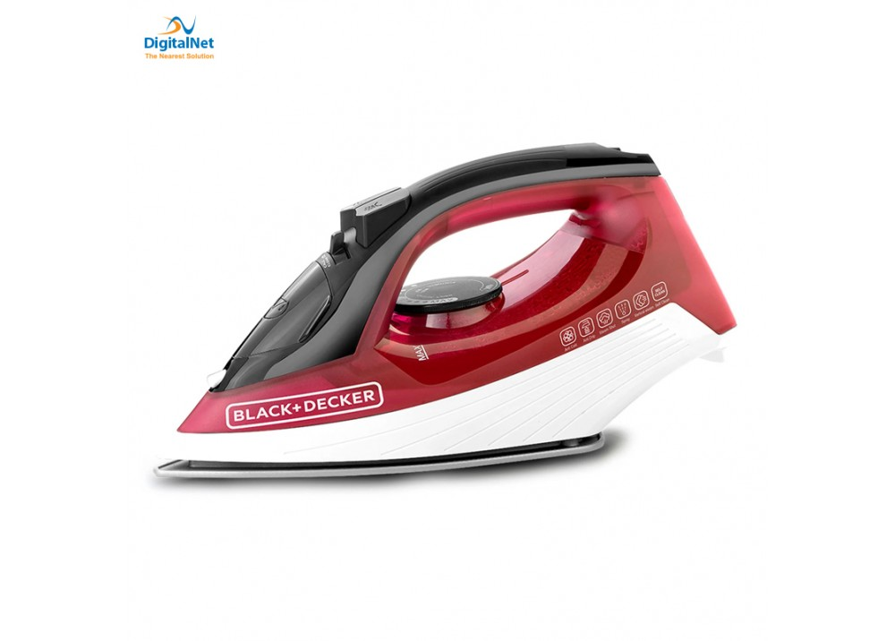 BLACK & DECKER HAND STEAM IRON X1550-B5 1600W RED