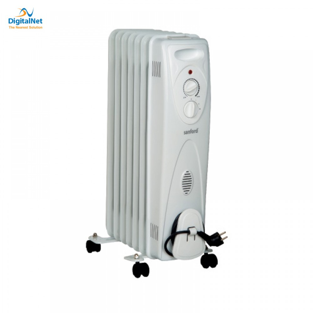 SANFORD ROOM OIL HEATER 7 FINS SF1204OH 1500 WATTS THERMO  3 POWER GREY