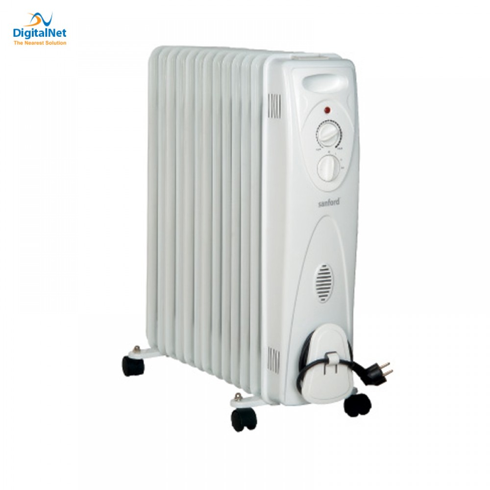 SANFORD ROOM OIL HEATER  13 FINS SF1207OH 2500 WATTS THERMO 3 POWER GREY