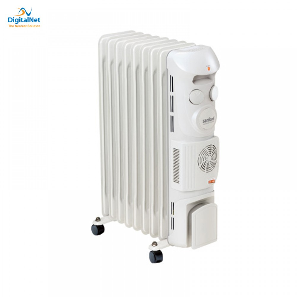 SANFORD OIL HEATER WITH FAN 9 FINS SF1210OH 2400 WATTS TURBO THERMO GREY
