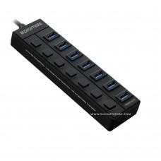 بروميت لوحة مداخل إضافية USBHUBSTATION 7 PORT MASTER HUB-2 BLACK