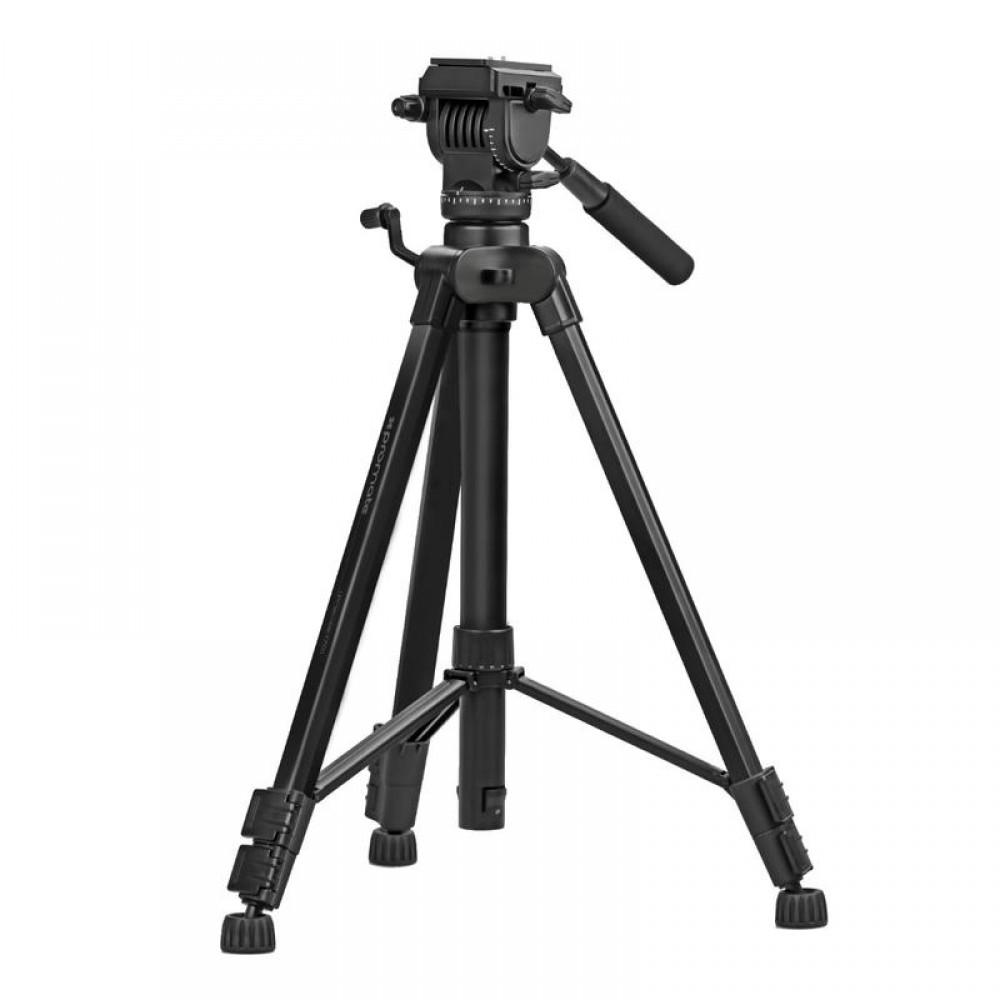 PROMATE TRIPOD PRECISE-180 4-SECTIONS CONVERTIBLE ALUMINIUM 180 cm BLACK