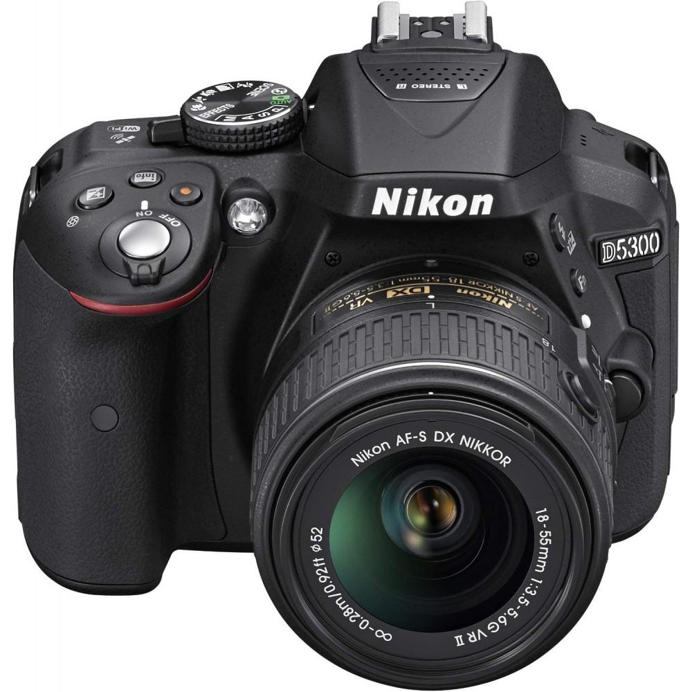 NIKON DIGITAL SLR CAMERA D5300 18.55mm VR ll LENS KIT BLACK