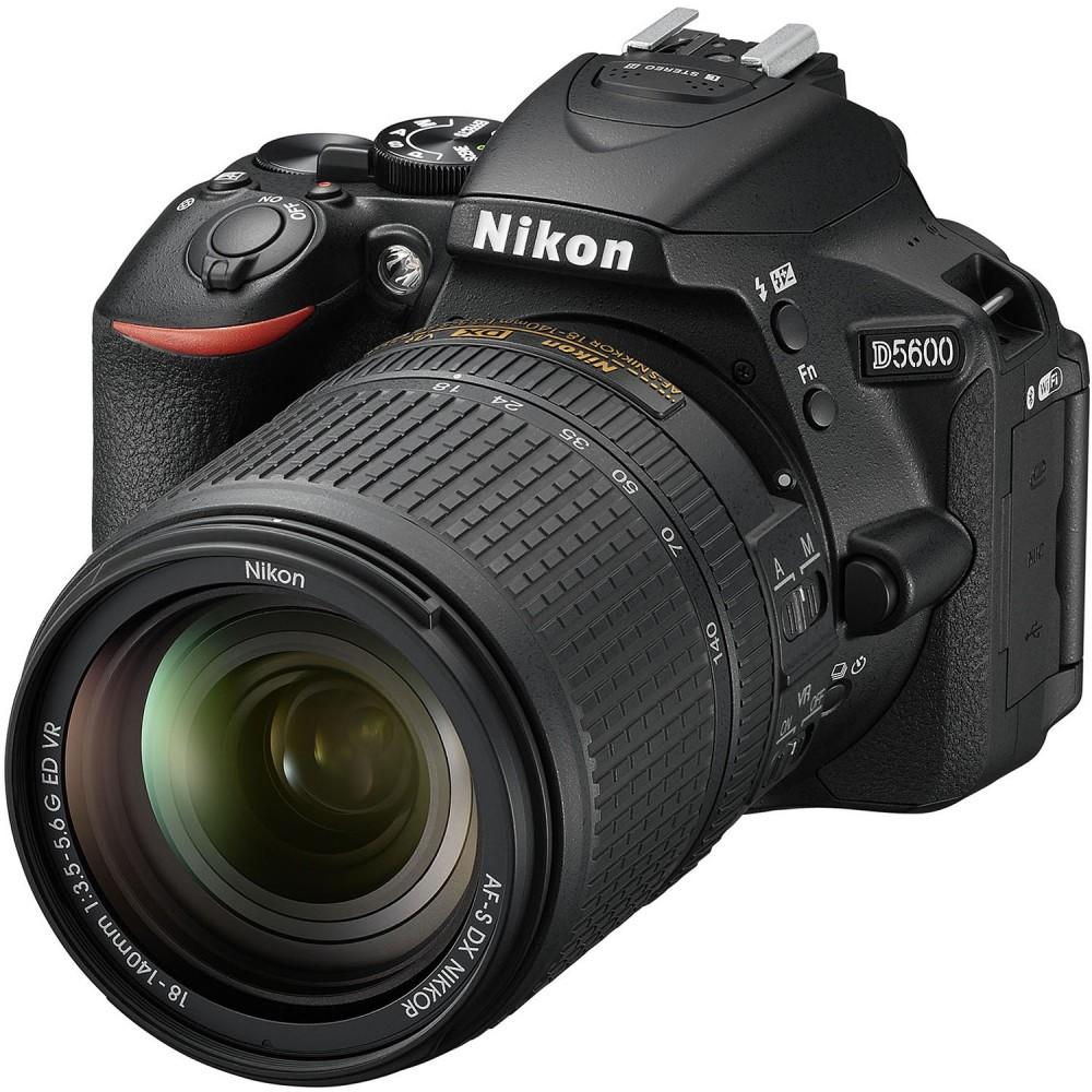NIKON DIGITAL SLR CAMERA D5600 18.55mm LENS KIT BLACK