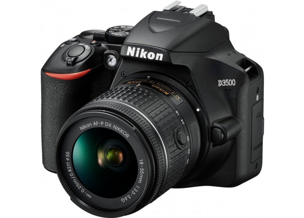 NIKON CAMERA D3500 18.55mm VR LENS KIT BLACK