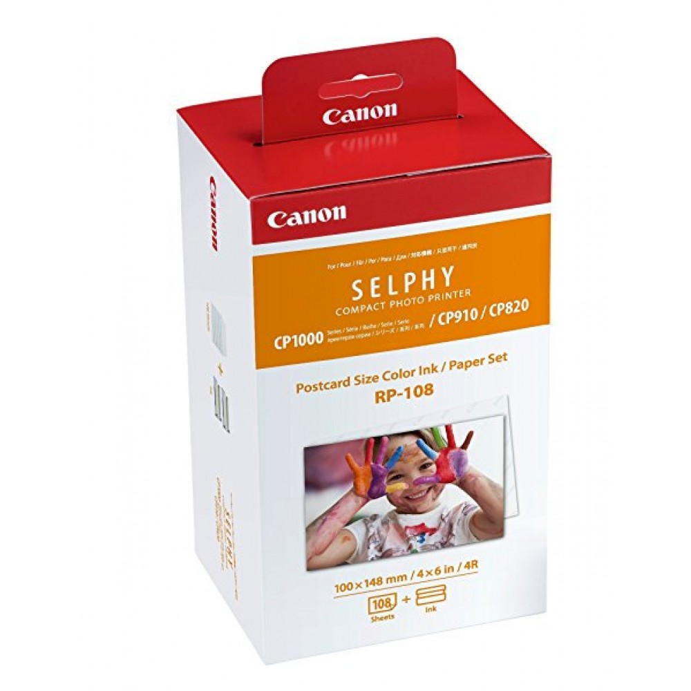 CANON COLOR ORIGINAL RP-108 INK WITH PAPER