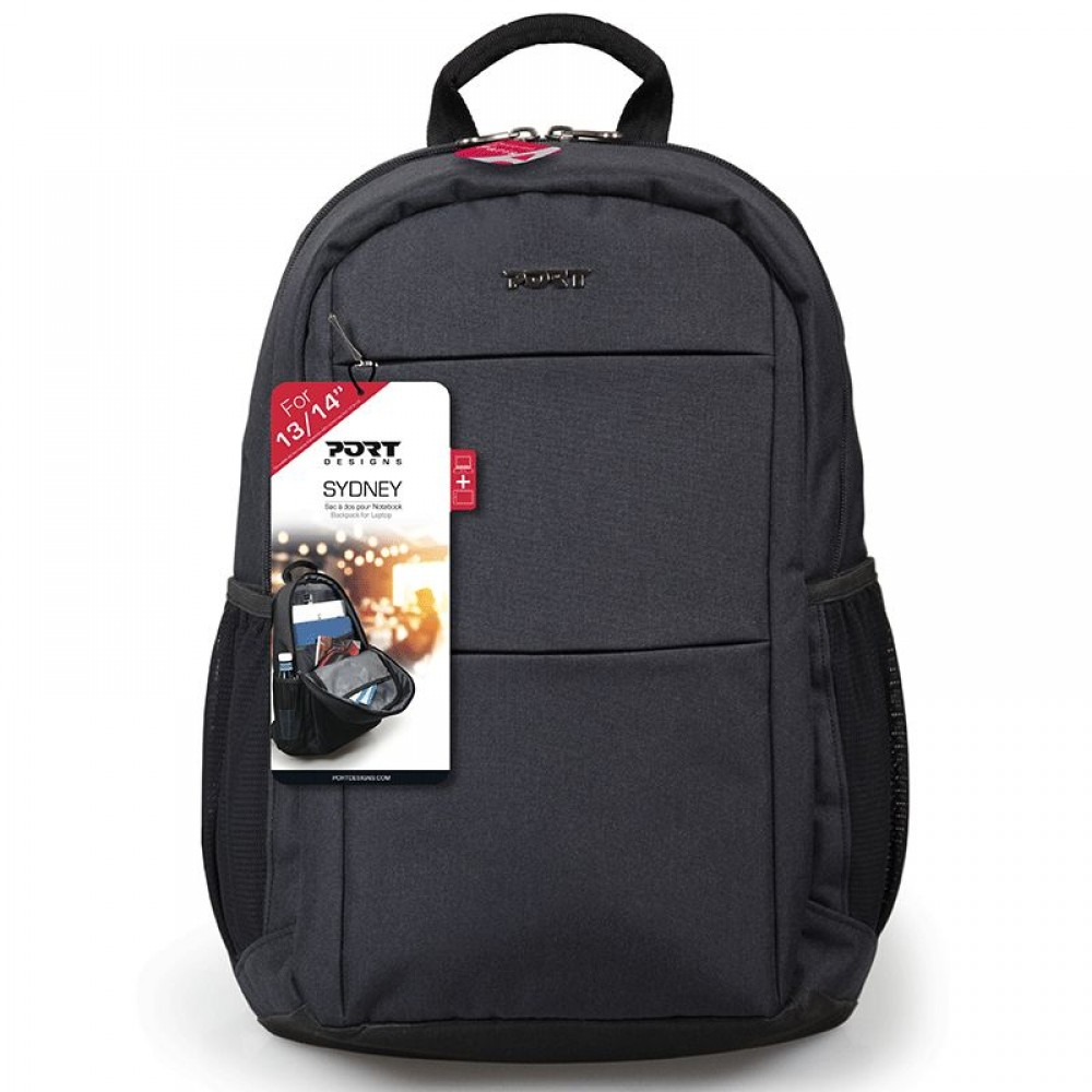 "PORT LAPTOP BAG BACKPACK SYDNEY 14"" BLACK"