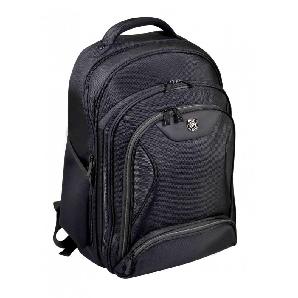 """PORT LAPTOP BAG BACKPACK MANHATTAN 15.6"""" BLACK"""