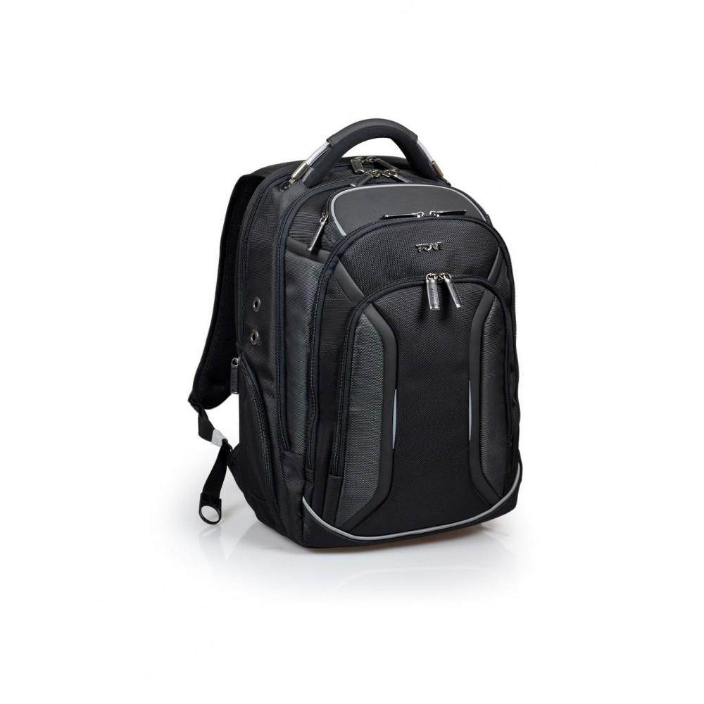 """PORT LAPTOP BAG BACKPACK MELBOURNE 15.6"""" BLACK"""