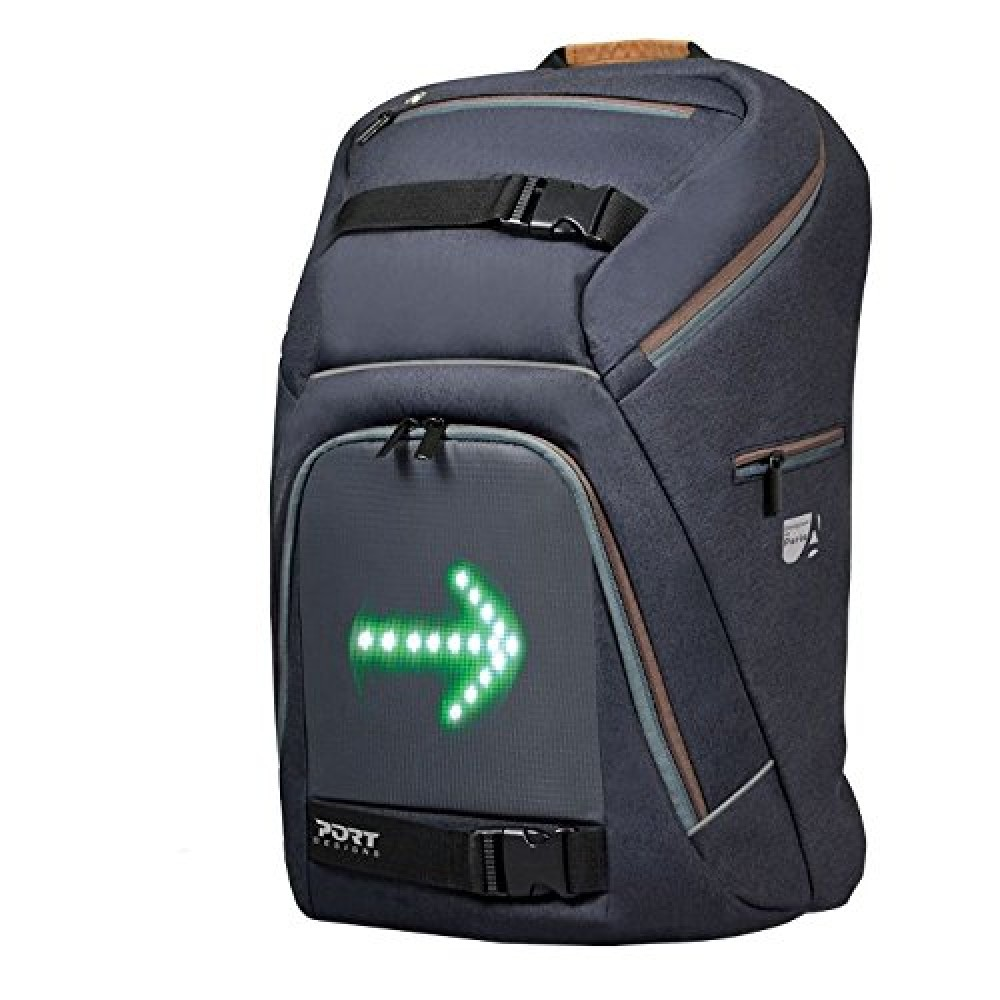 "PORT LAPTOP BAG BACKPACK GO LED 15.6"" BLACK"