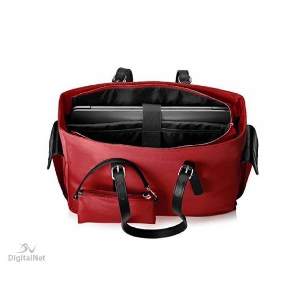 "HP LAPTOP BAG EUROP-ENGL LOCAL TOPLOAD FOR LADIES 14"" RED"